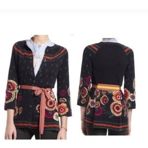 Anthro Sparrow Floral Beaucaire Cardigan